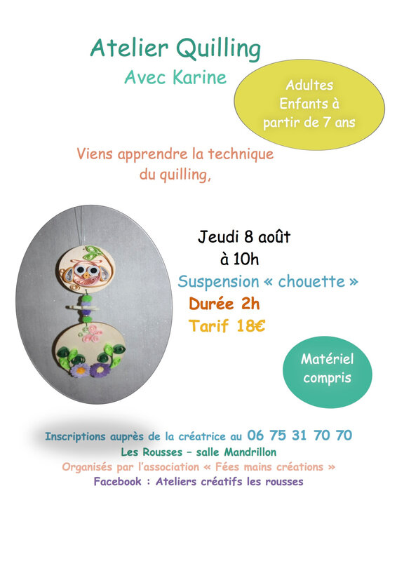 Quilling chouette