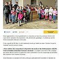 Article du journal du composteur de l'école