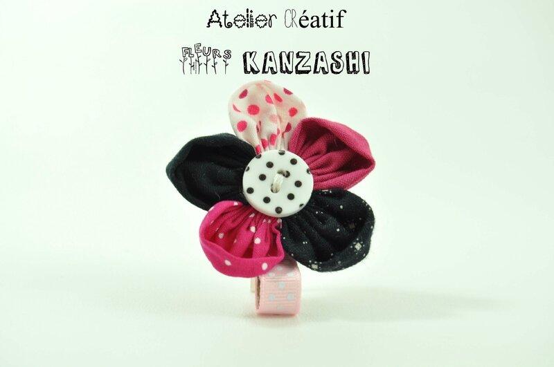 atelier fleurs kanzashi