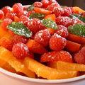 Parce qu'on ne peut pas hiberner indéfiniment: salade d'oranges aux fruits rouges et à la menthe