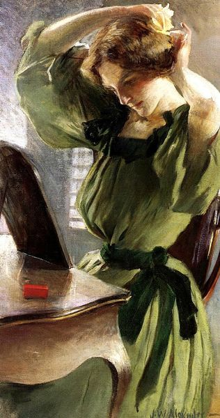 alexander_john_white_young_woman arranging her hair 1890