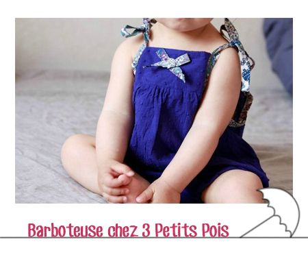 barboteuse 3 petits pois