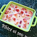 Pêche-fraises gratinées