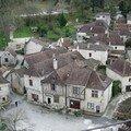 St Cirq Lapopie, vue du haut du chateau