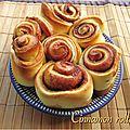Cinnamon rolls (petits pains roulés à la cannelle)
