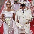 Mariage - Prince ALBERT II et la Princesse CHARLENE de Monaco