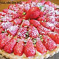 0323 Tarte aux fraises, crème citron basilic 1