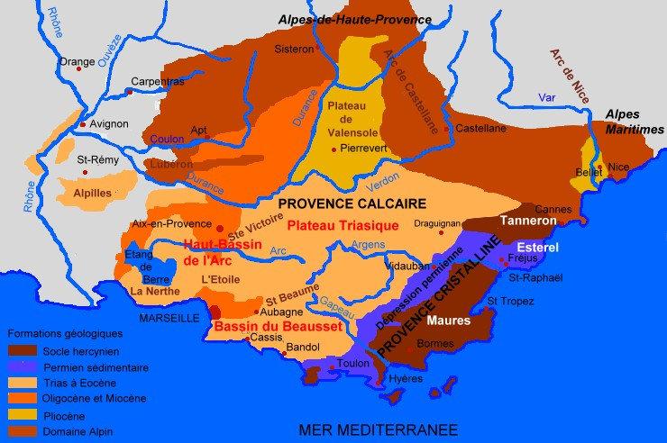 Carte-geologique-de-la-Provence-Michel-CRIVELLARO