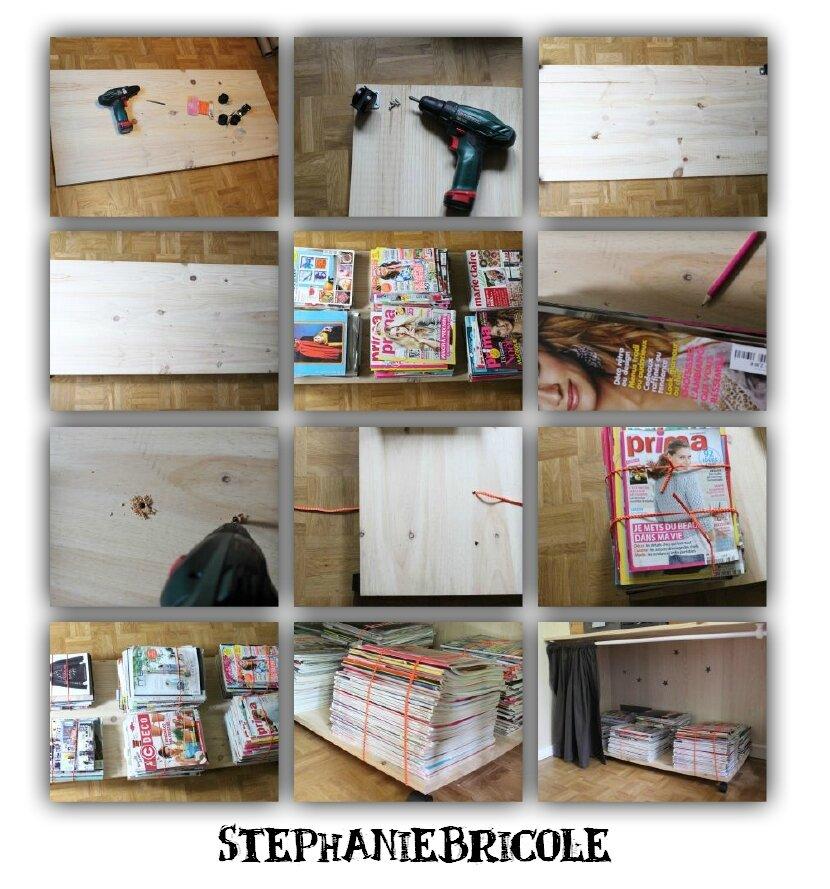 id e et astuce pour ranger des magazines st phanie bricole. Black Bedroom Furniture Sets. Home Design Ideas