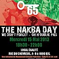 The nakba day… on n'oublie pas!