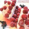 Pavlova aux framboises et sirop d'hibiscus épicé
