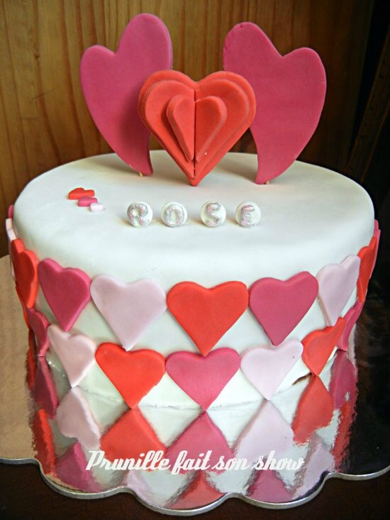 rose heart cake prunillefee