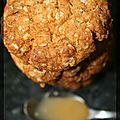 P'tits biscuits au miel et aux flocons d'avoine