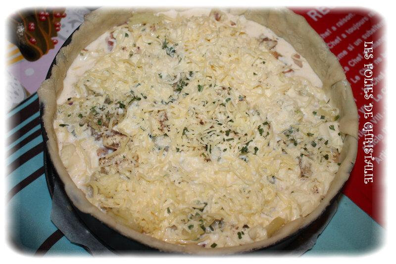 Tourte lardons pommes de terre 7