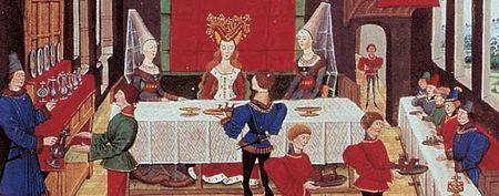 table d'un roi ou d'une reine