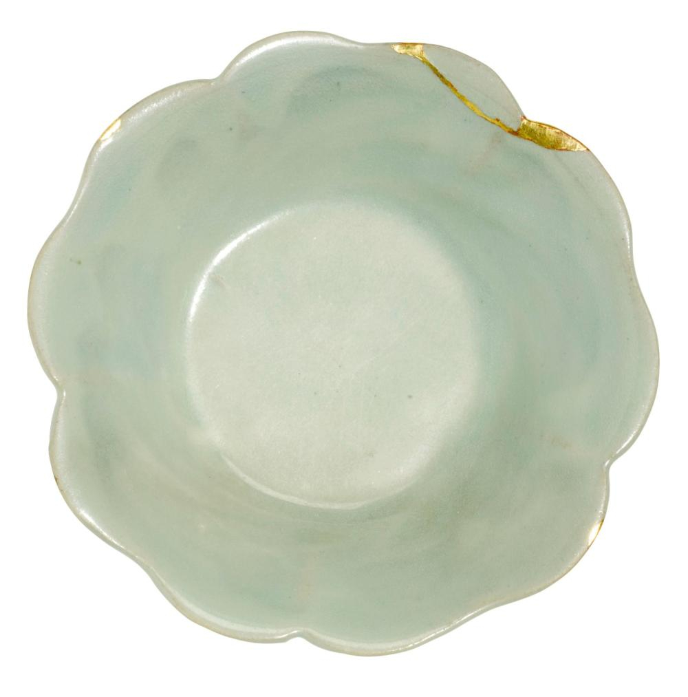 A 'Yaozhou' lobed dish, Five dynasties (907-960)
