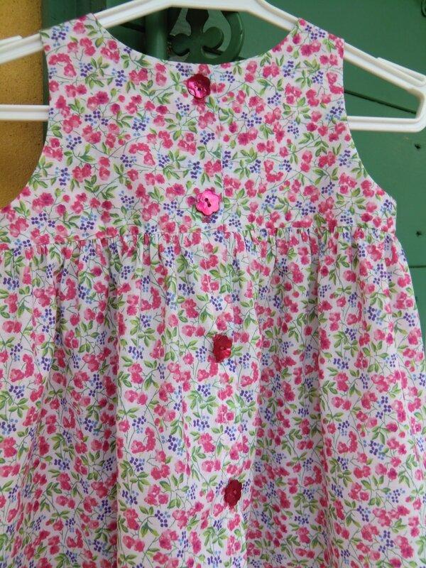 Robe froncée Dos 016 - Blog