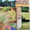 porte ouverte sur le jardin