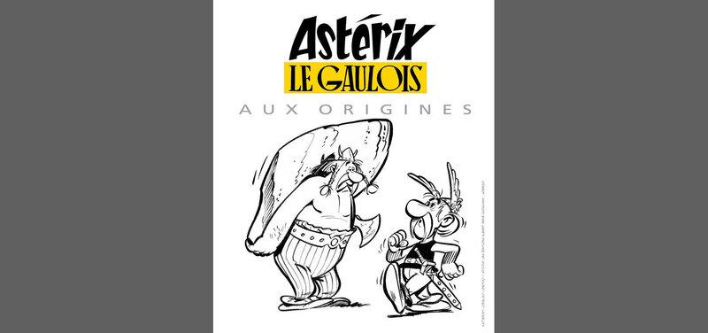 Exposition des planches du premier Astérix à la BNF lors des Journées européennes du patrimoine