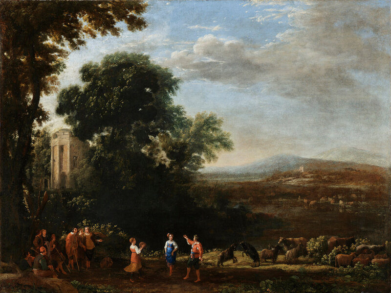 Claude Lorrain, Landscape with Country Dance