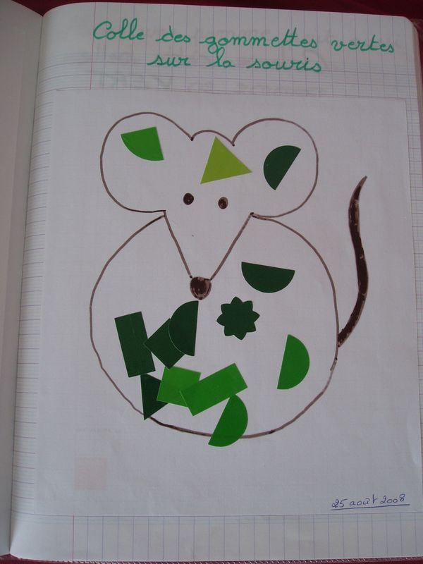 Une souris verte les mercredis des crapules - Coloriage souris verte ...