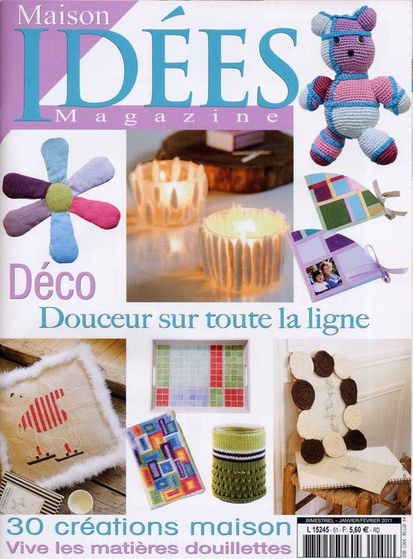 """Parution Presse """"Maisons idées magazine""""Janvier-février 2011 (Maisons idées magazine 2011 january fébruary)"""