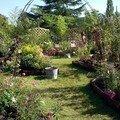 le jardin de Chantal Alain tout en poésie