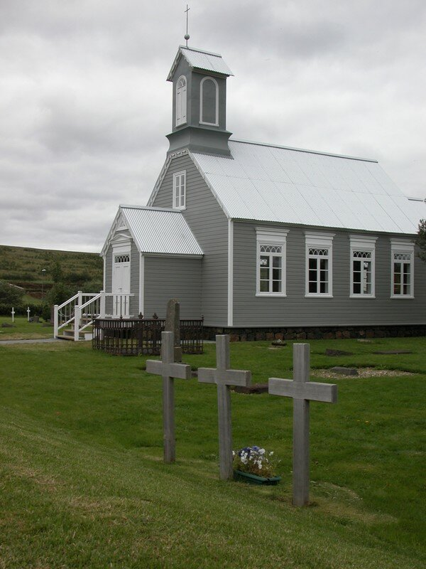 Grey church