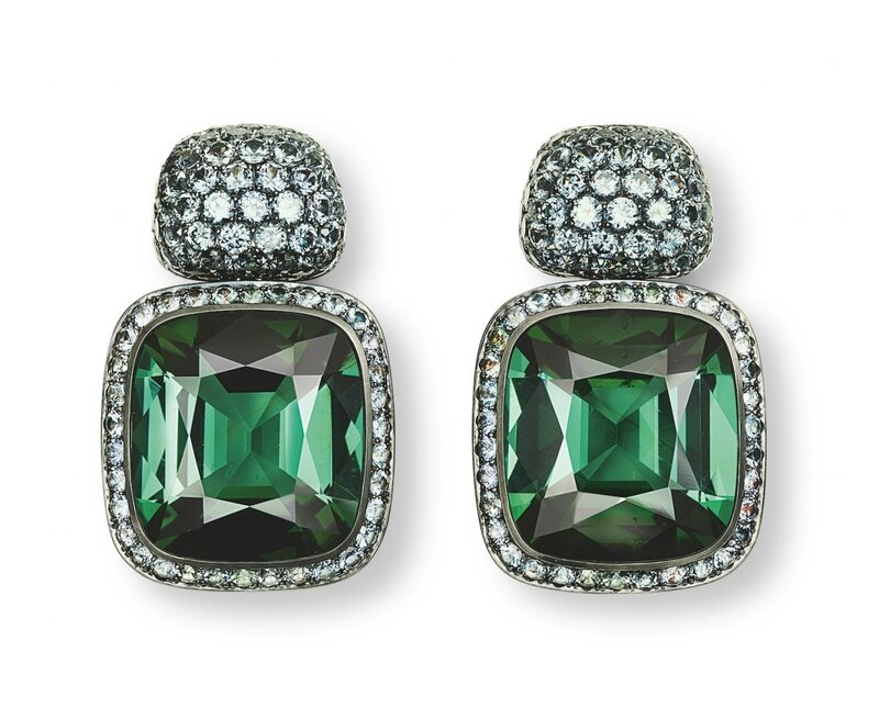 Hemmerle-earrings-tourmalines-garnets-silver-white-gold-1200x982