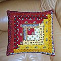 coussin log-cabin