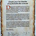 Charte pour les libertés et la diversité des cultures - esprit du sud