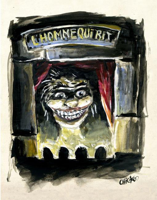 illustration pour l'Homme qui rit - adaptation par le Théâtre de la Licorne