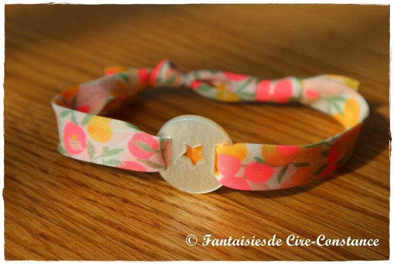Bracelet étoile nacre
