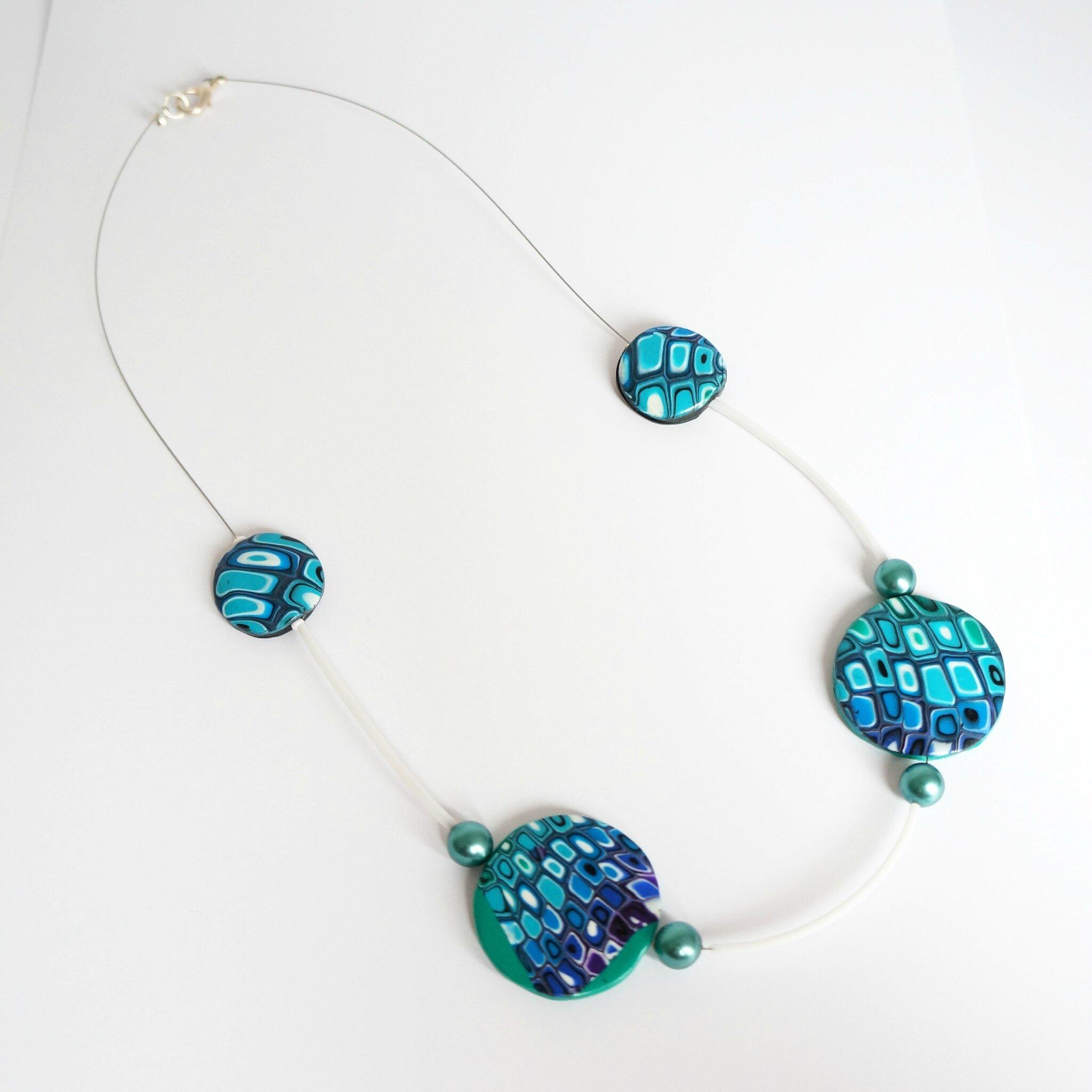 bijoux turquoise vert bleu et blanc en p te polym re fimo les bijoux du nibou. Black Bedroom Furniture Sets. Home Design Ideas