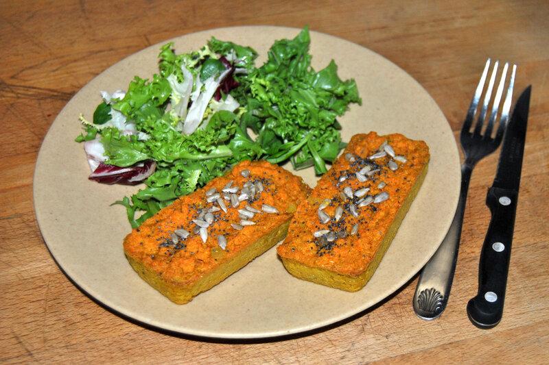 Cake aux lentilles corail et carottes