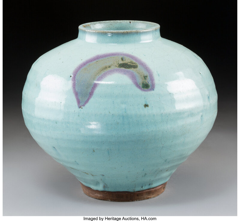 A Chinese Jun Ware Jar, Yuan Dynasty