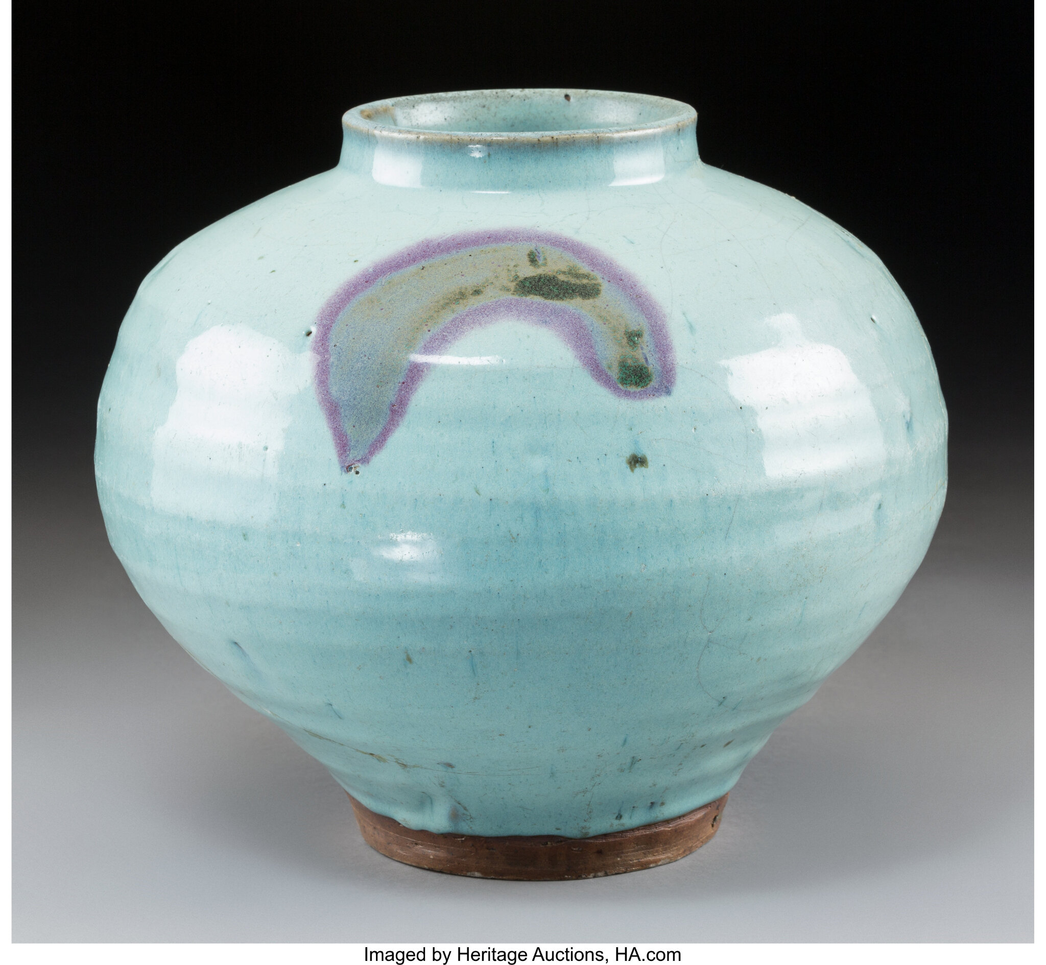 A Chinese Jun Ware Jar, Yuan Dynasty