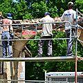 chantier portail bois XVIII,