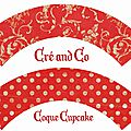 Coque Cup cake rouge