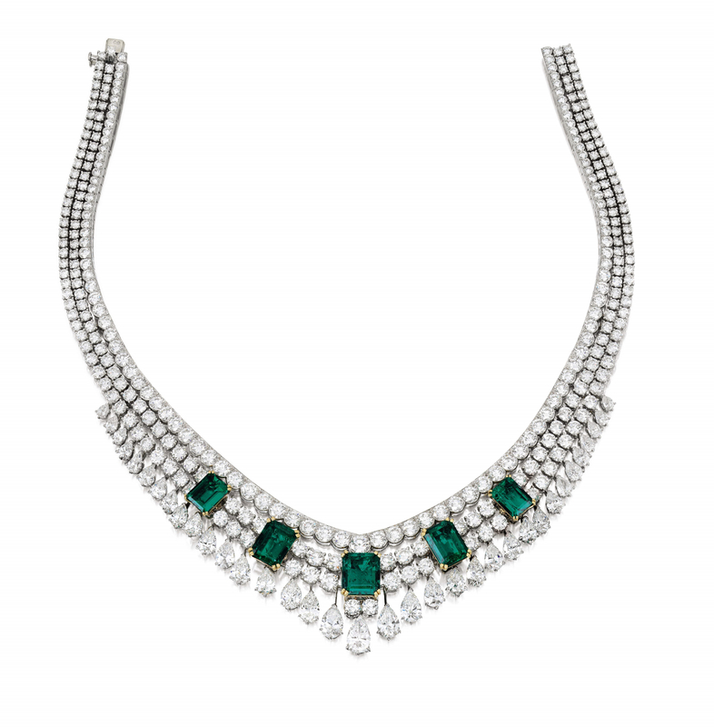 Lot 1718, Van Cleef & Arpels, Colombian Emerald and Diamond Necklace, 'Toscane' (3)