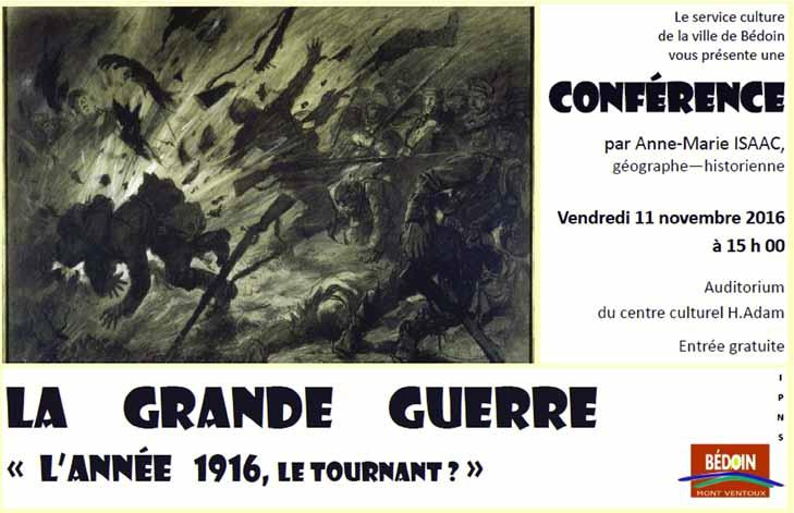 Conférence 1916, Bédoin
