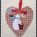 Mini quilt du mois de novembre et snow happy hearts d'octobre.