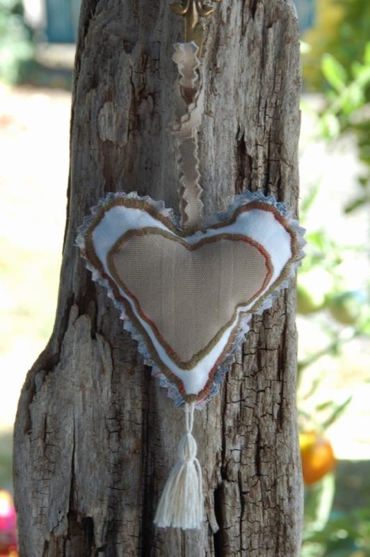 Petit coeur recto -hauteur 6cm 2 cotons superposés ~ 4€