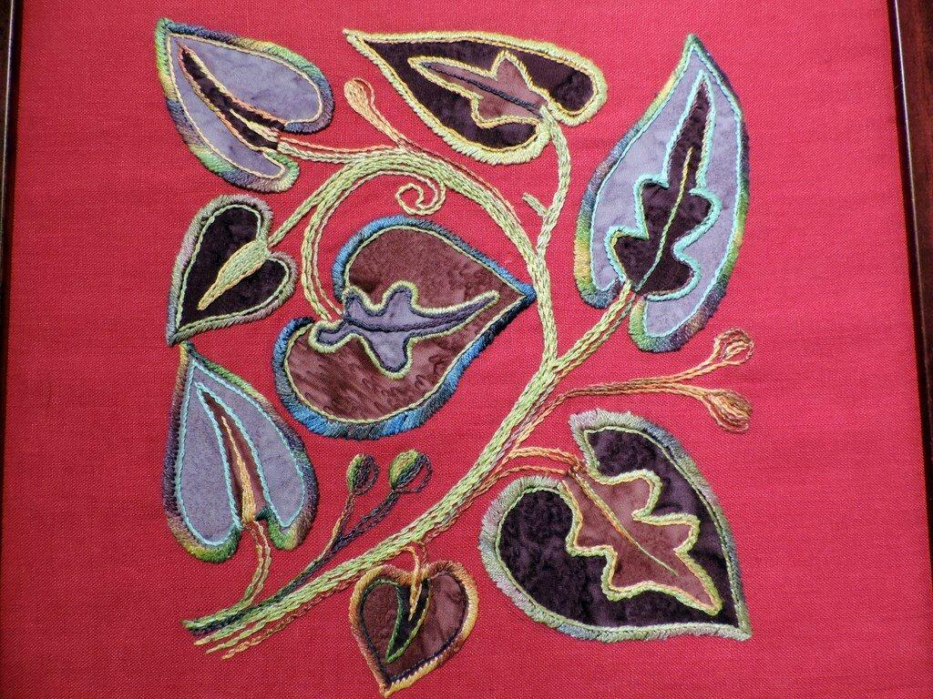 Indienne - appliqué de tissus batik avec broderie