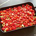 Crumble de rhubarbe et fraises