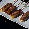 Yakitori au fromage