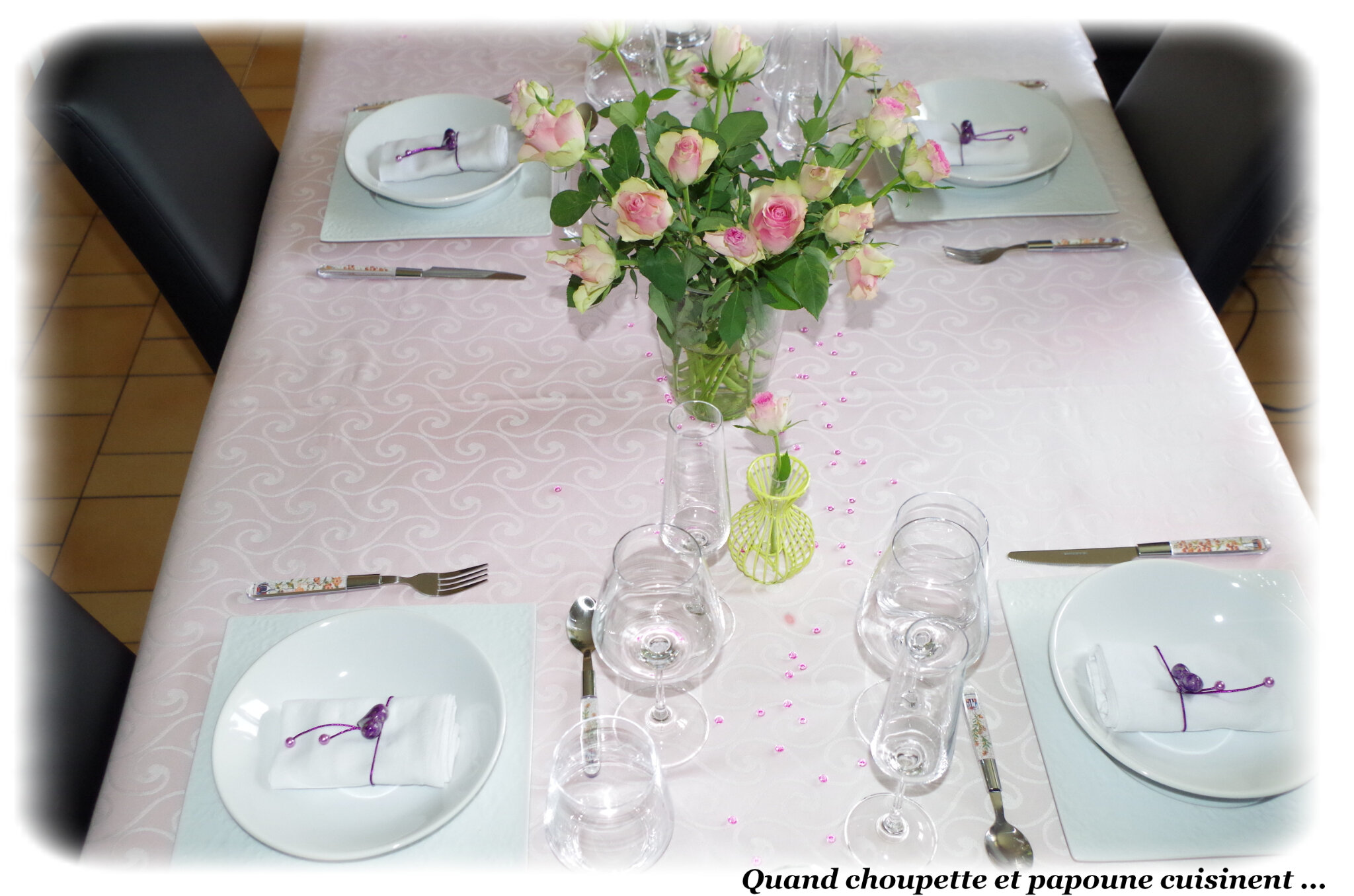 MA TABLE ROSES SPECIALE FETE DES MERES
