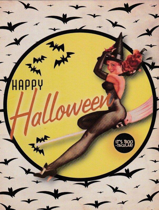 CPM Pub Halloween Pin up 1950 3