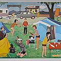 Collection ... affiche scolaire nathan 1966 * différentes scènes de vie