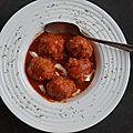 Boulettes de viande coeur de mozzarella
